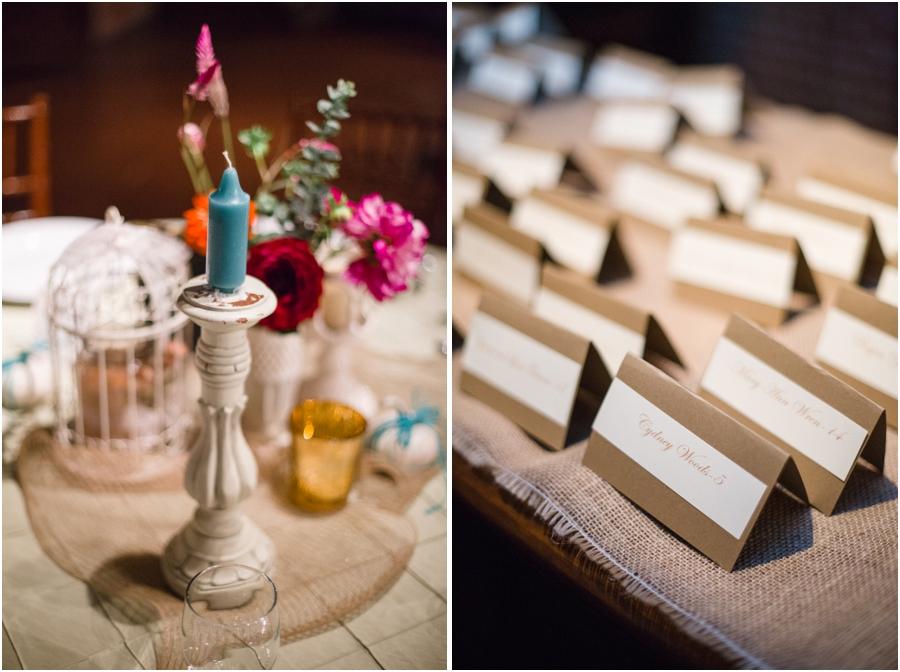 bohemian wedding reception decor, southern wedding reception photography