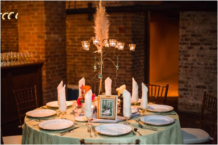 vintage bohemian wedding reception