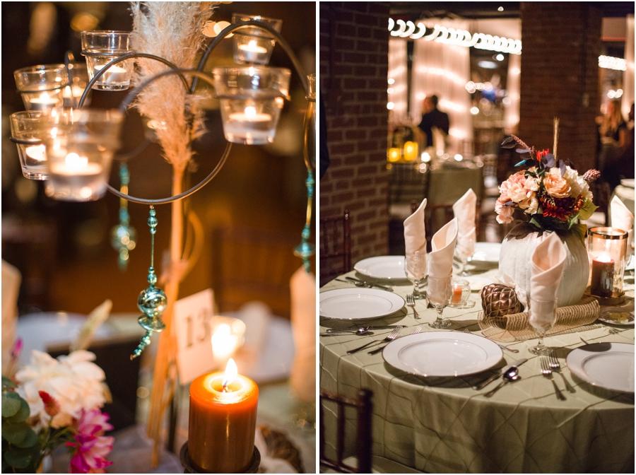 bohemian wedding reception photography, Millennium Center wedding