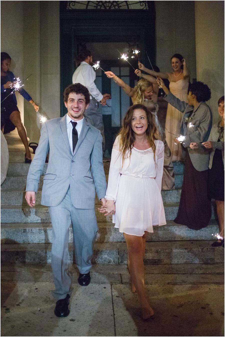 sparkler exit, vintage bohemian wedding photography