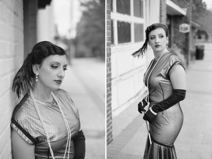 vintage portrait photography, 1920s flapper