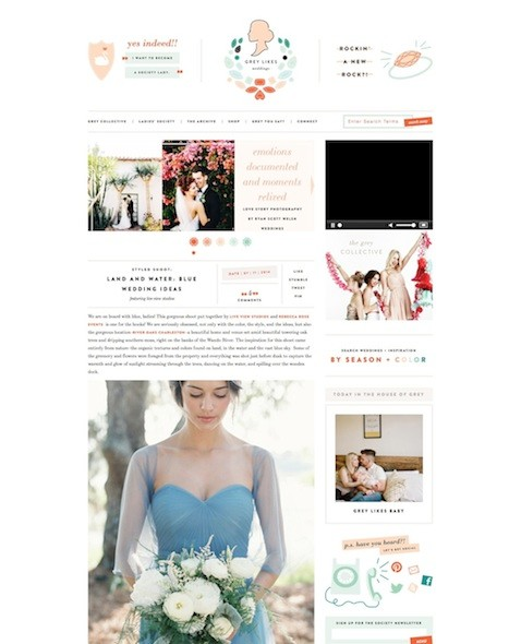 Land and Water- Blue Wedding Ideas | Best Wedding Blog – Wedding Fashion & Inspiration | Grey Likes Weddings