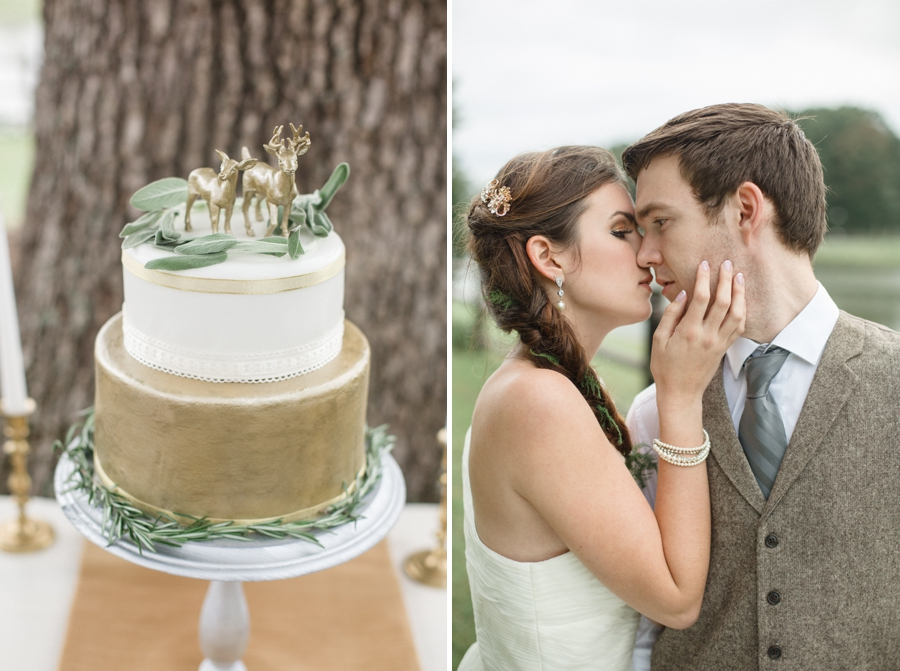 bohemian wedding cake, romantic vintage wedding photography