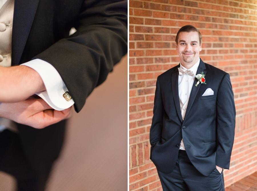 heirloom cuff links, groom getting ready