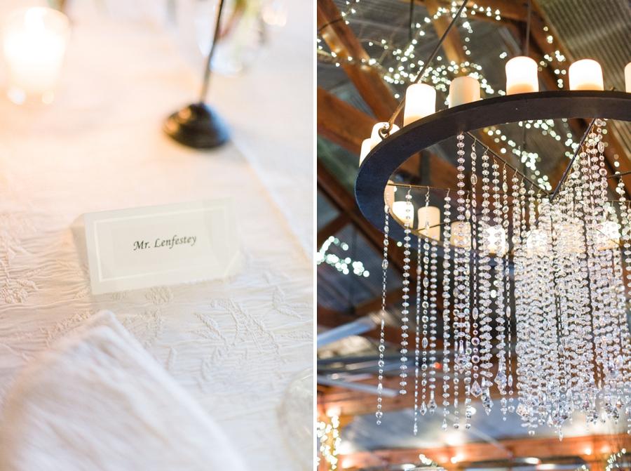 elegant table arrangements, beautiful chandelier at angus barn wedding reception