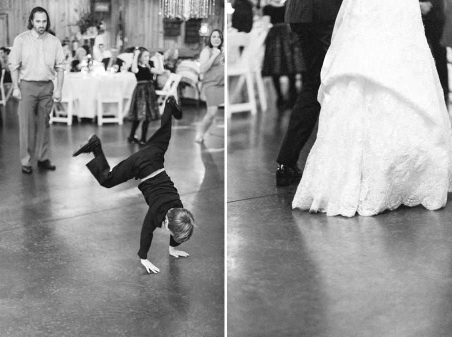ring bearer doing a handstand, vintage wedding photographers