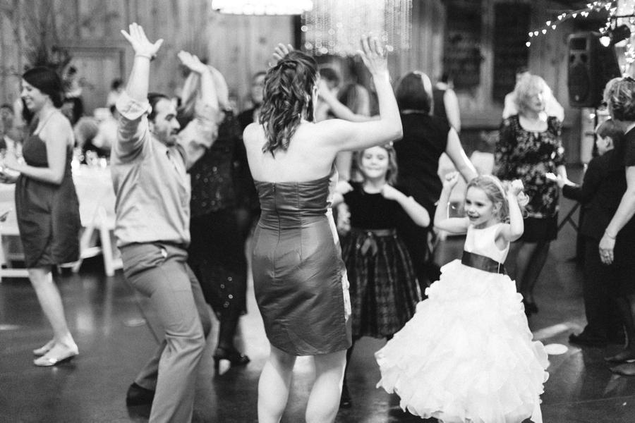 guests dancing at angus barn wedding reception