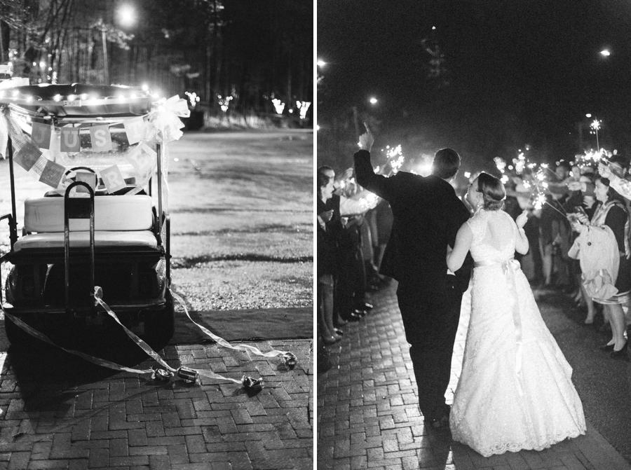 just married, sparkler exit