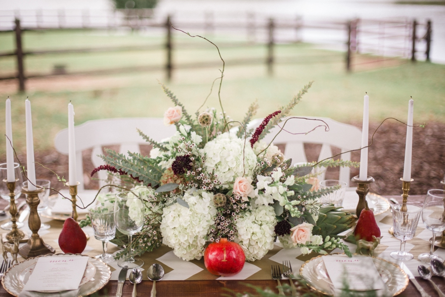 floral centerpiece by Embellished Blooms, bohemian vintage wedding photography