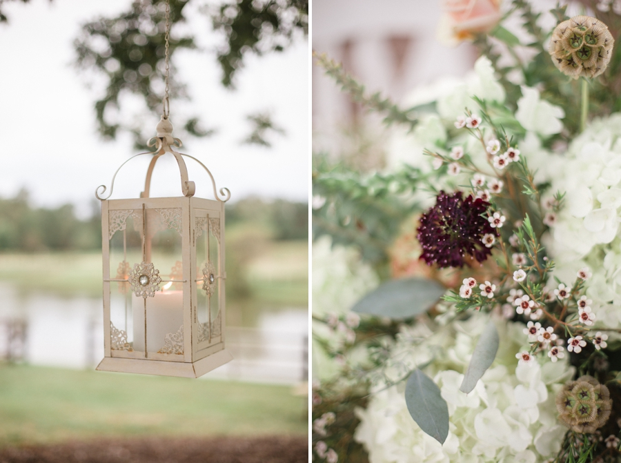 outdoor wedding inspiration, floral centerpiece by Embellished Blooms