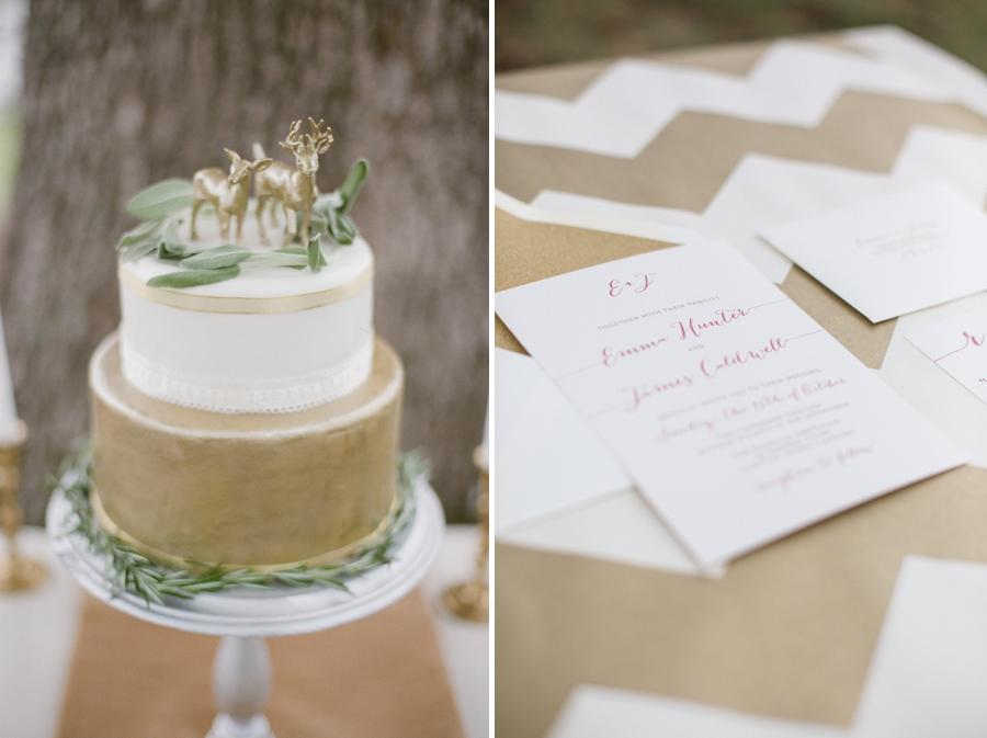 bohemian wedding cake inspiration, wedding stationary by Crafty Pie