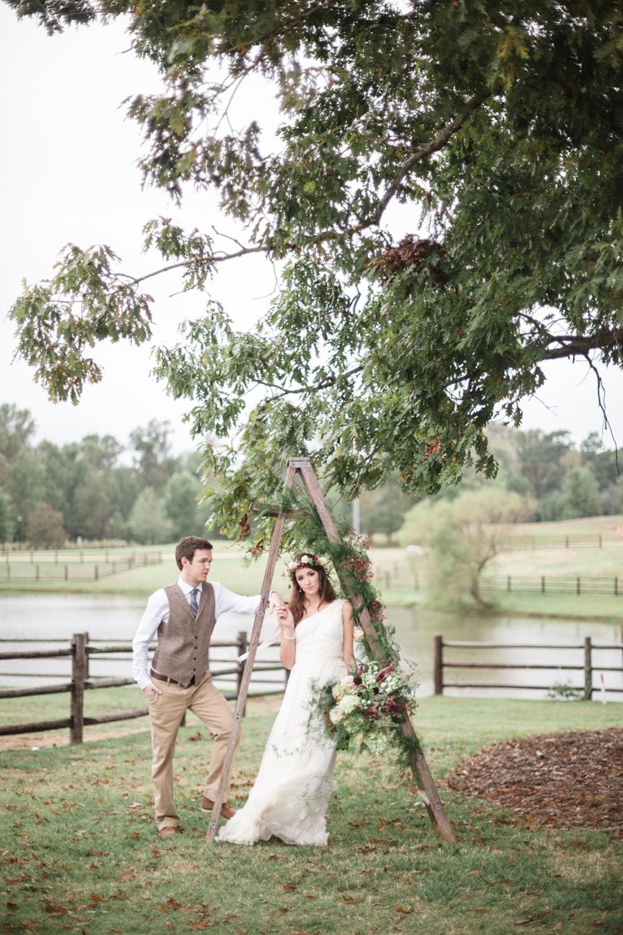 romantic bohemian wedding photography, north carolina