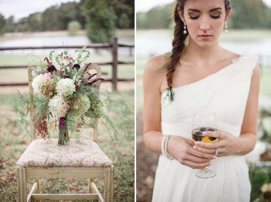 bridal bouquet by Embellished Blooms, southern bridal photography