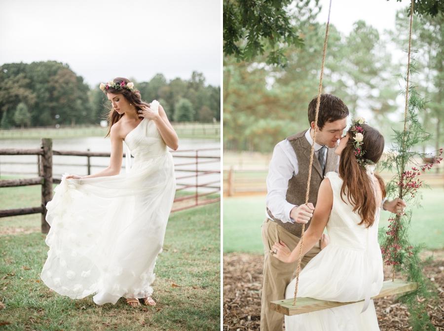 ruche wedding gown, romantic wedding photography