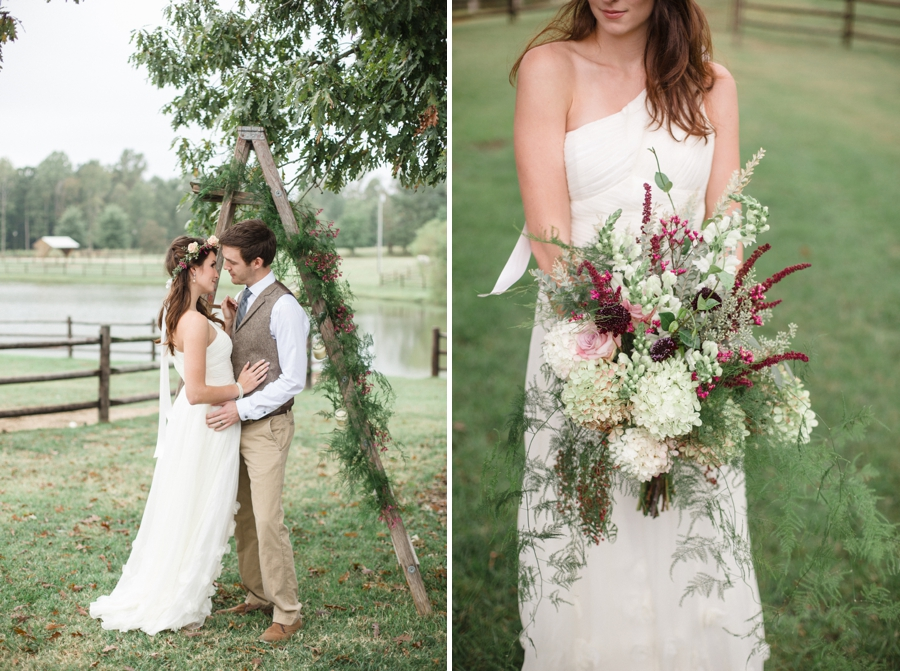 bohemian wedding photography, bridal bouquet by Embellished Blooms