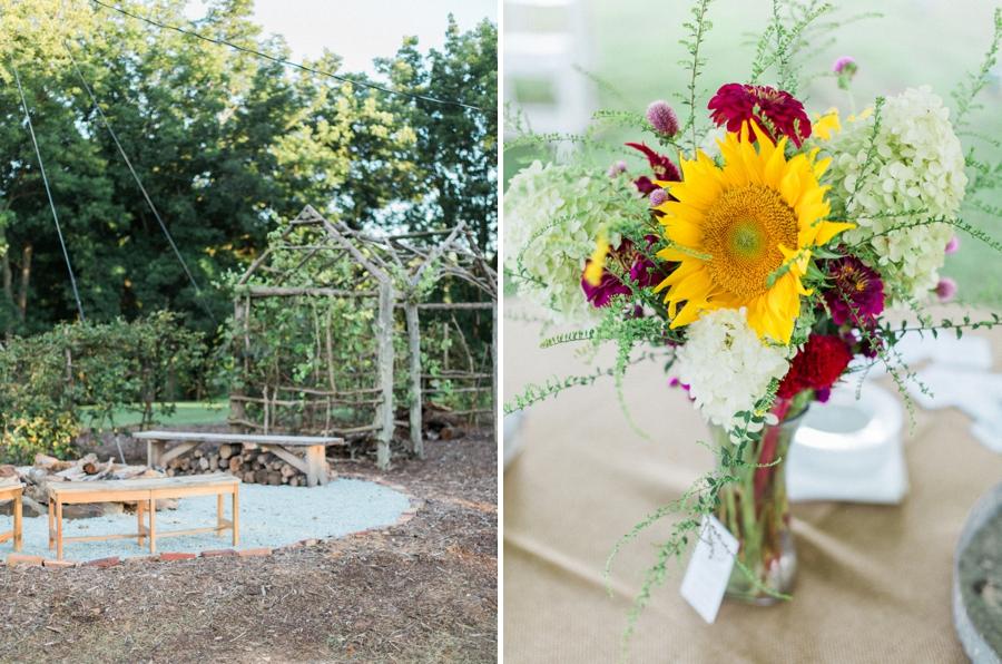 nc rustic wedding venues, fresh flowers from spring forth farm
