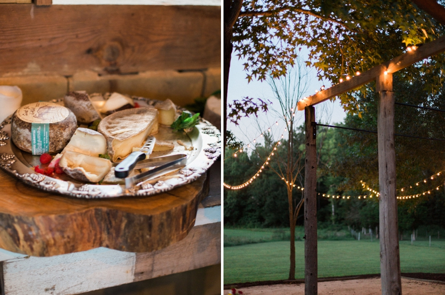 market lights for dancing, cheese tray at iron horse farm open house