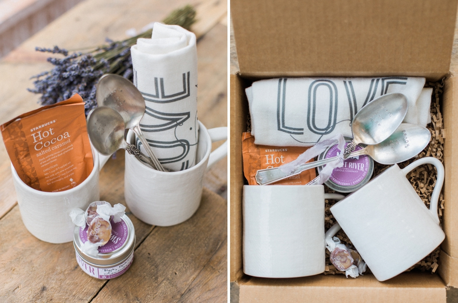 wedding photography client gifts a box of heirlooms