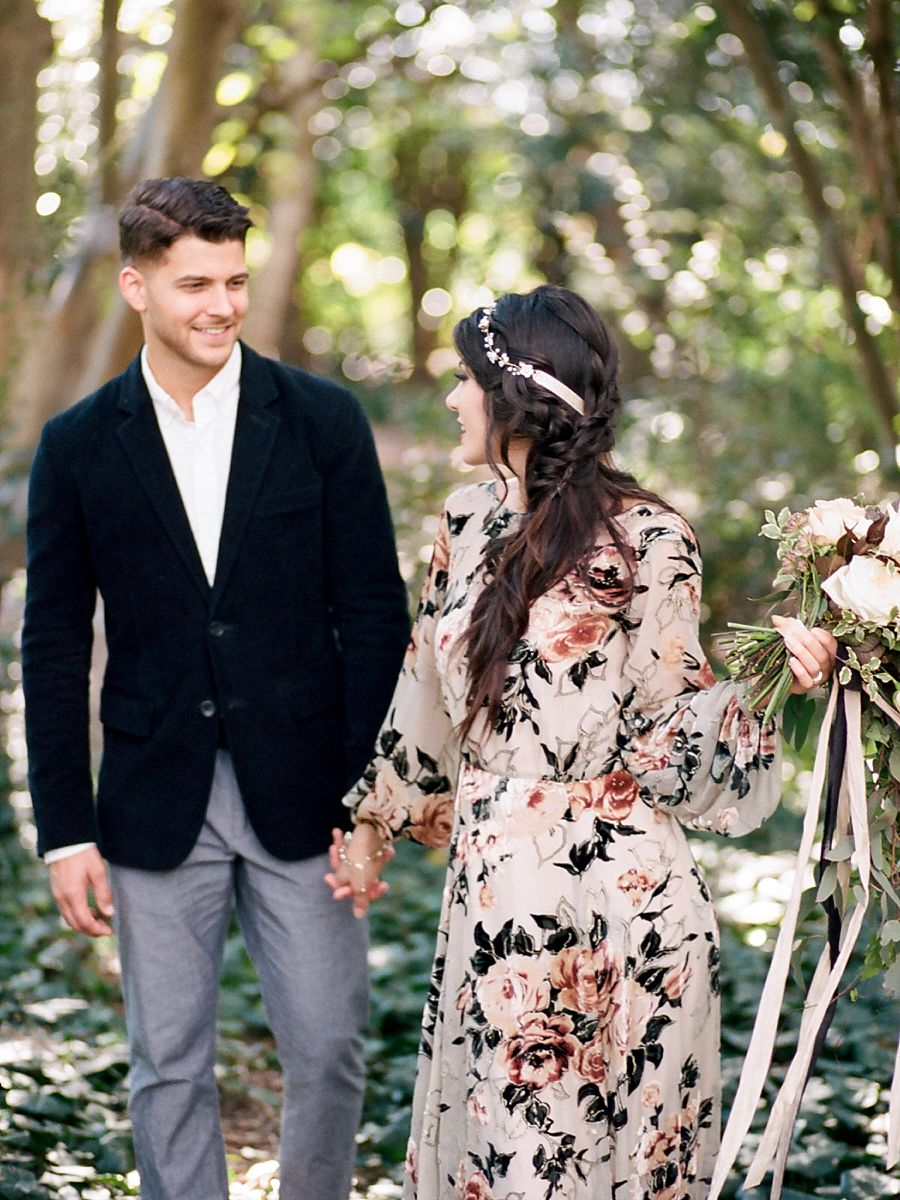 Moody Floral Elopement Inspiration